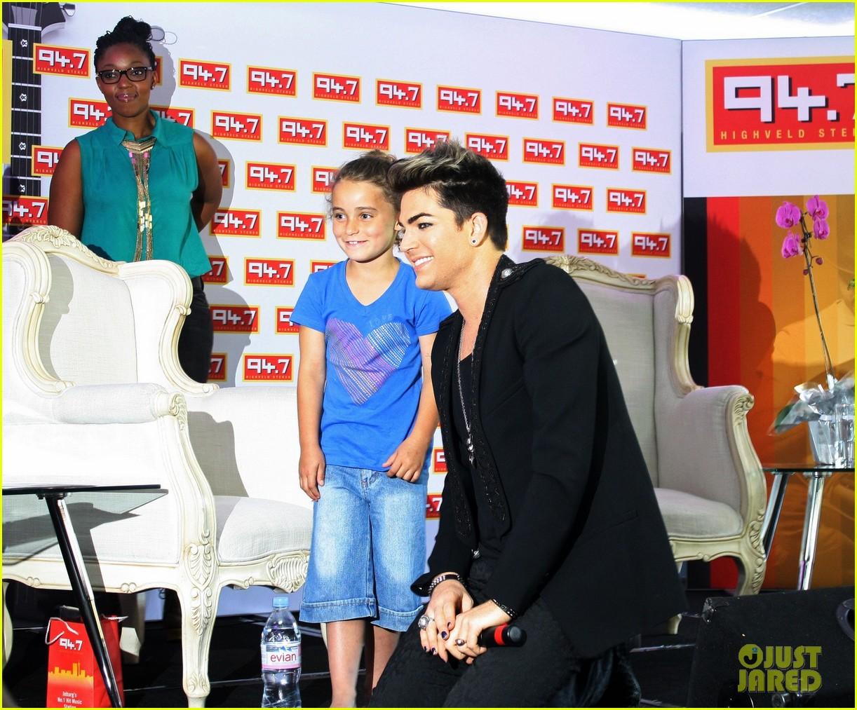 adam lambert hugs lucky young fan in south africa 02