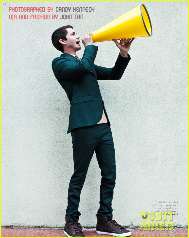 logan lerman covers visual ties magazine 02