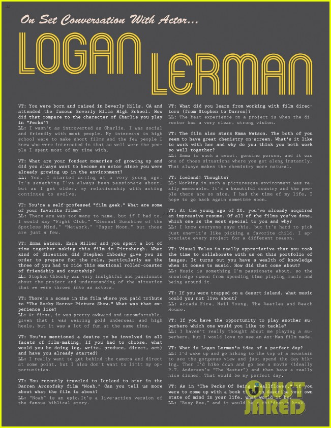 logan lerman covers visual ties magazine 12