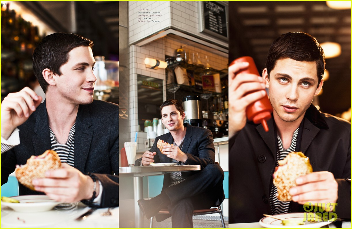 logan lerman covers visual ties magazine 13