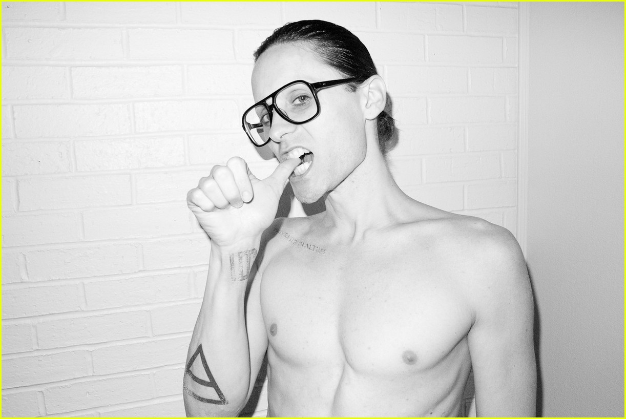 jared leto reveals weight loss shirtless for terry richardson 192765527