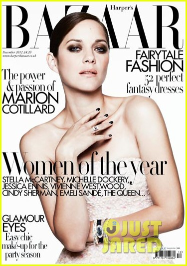 marion cotillard covers harpers bazaar uk december 2012 01