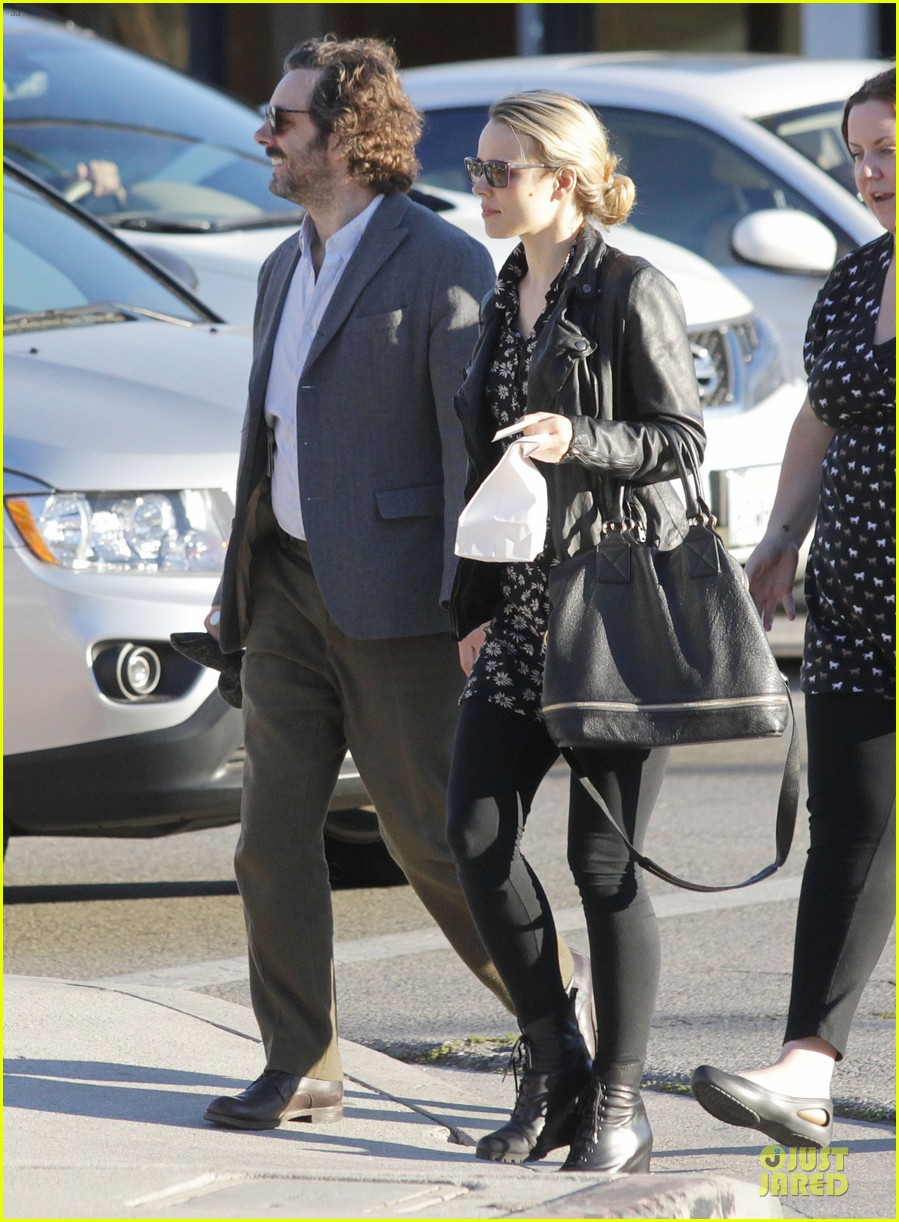 rachel mcadams michael sheen likes his mustache 122755729