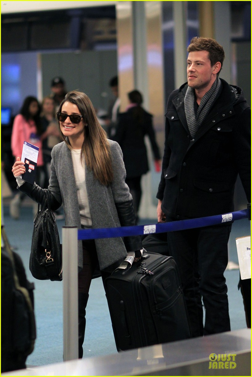 lea michele cory monteith vancouver departing couple 12