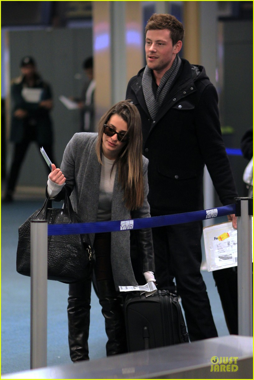 lea michele cory monteith vancouver departing couple 13