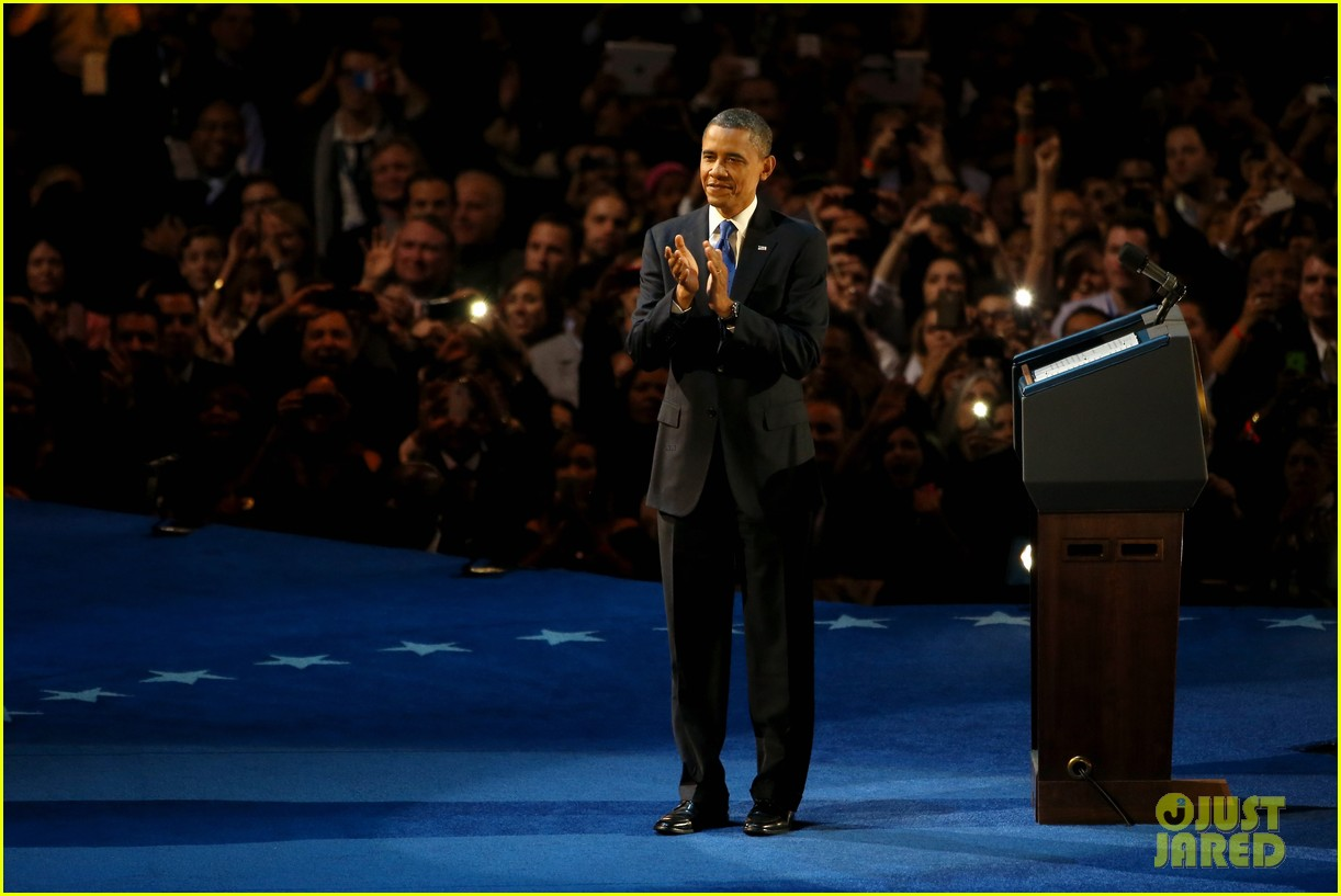 watch barack obama victory speech for election 2012 092752406