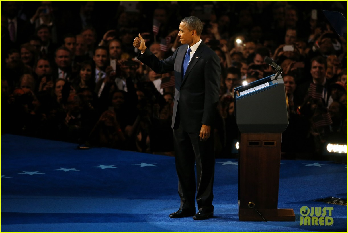watch barack obama victory speech for election 2012 222752419