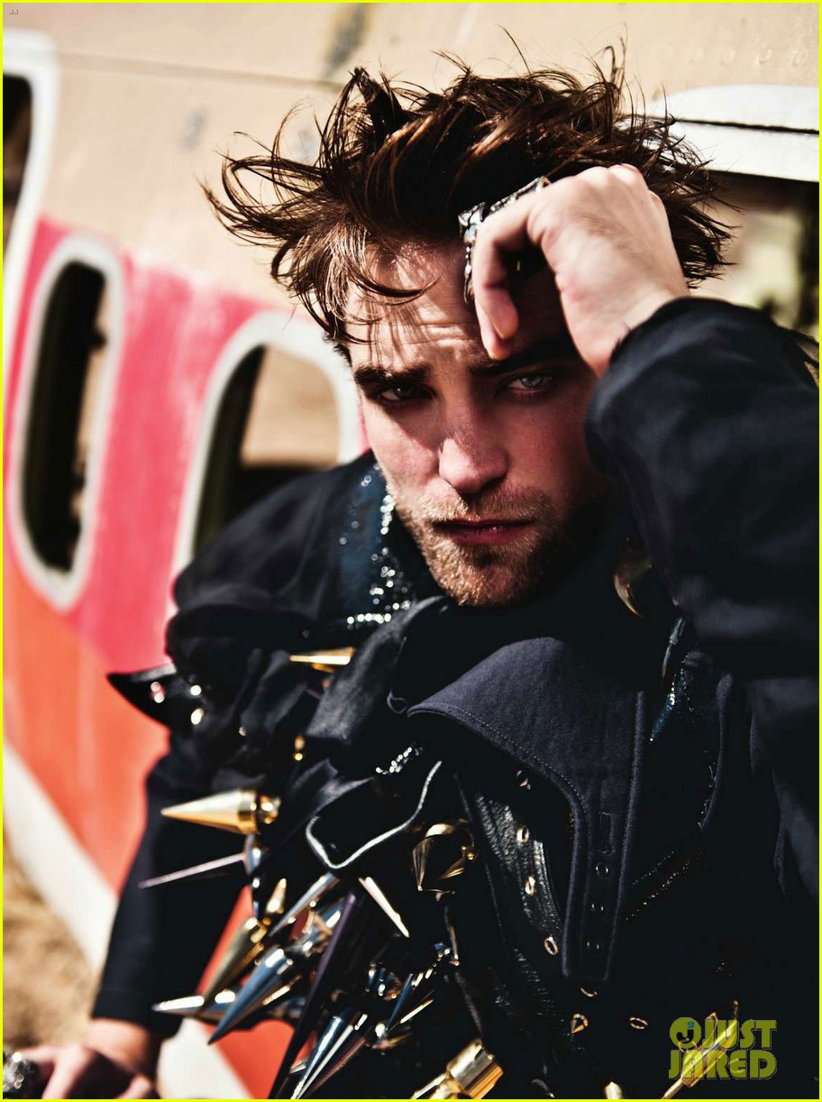 robert pattinson leather studs for luomo vogue 022749913