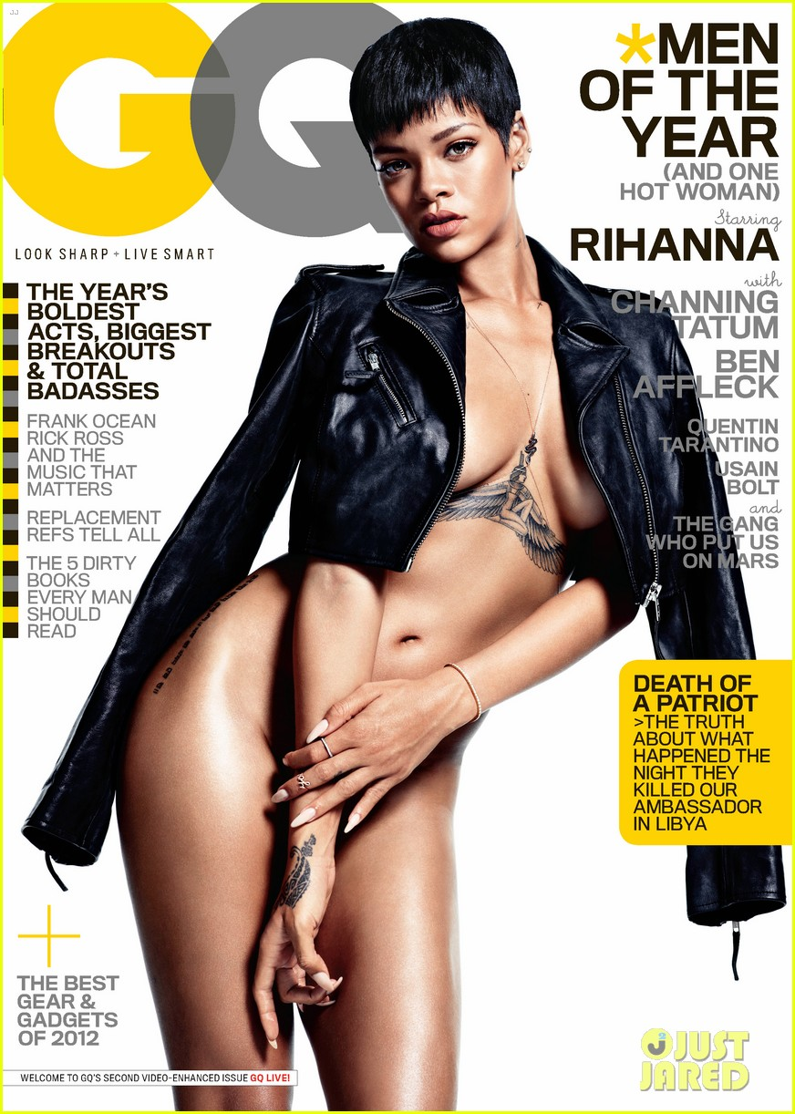 rihanna naked gq mag cover girl 01