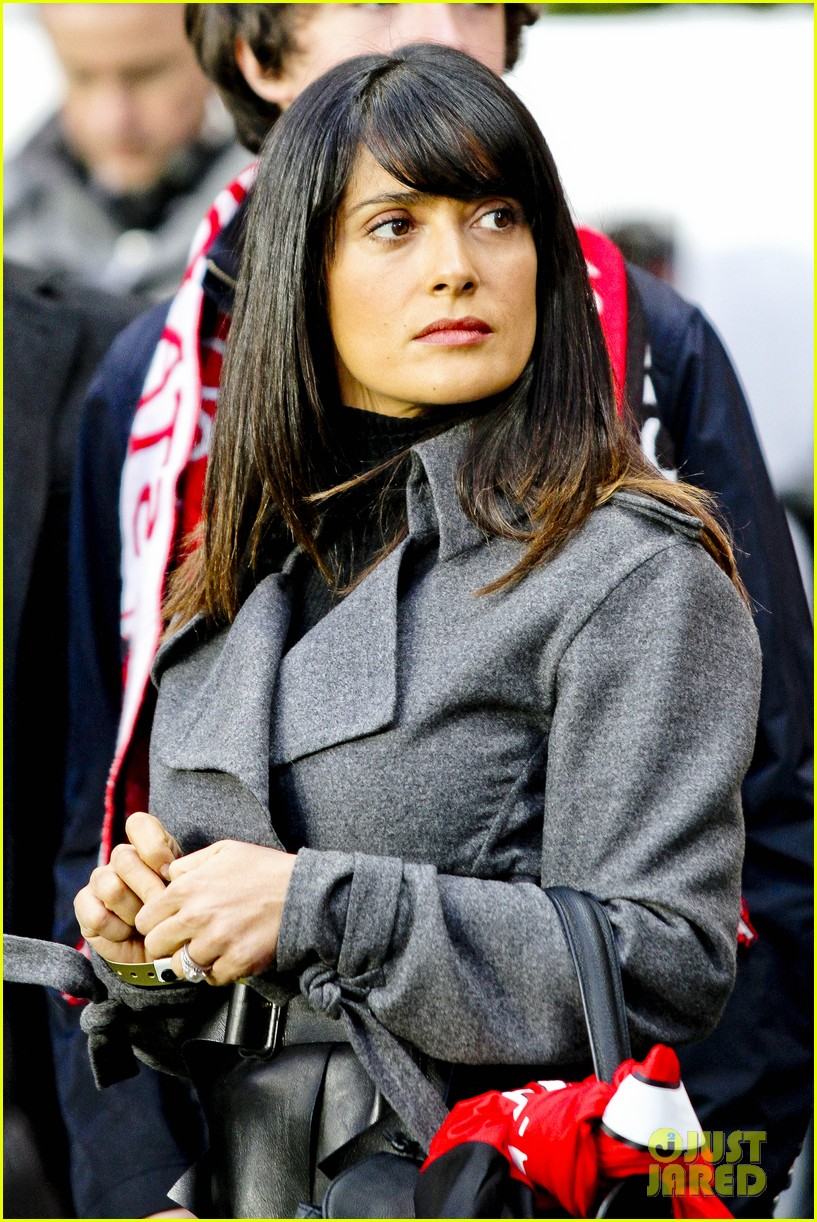 salma hayek french first league soccer fan 132759943