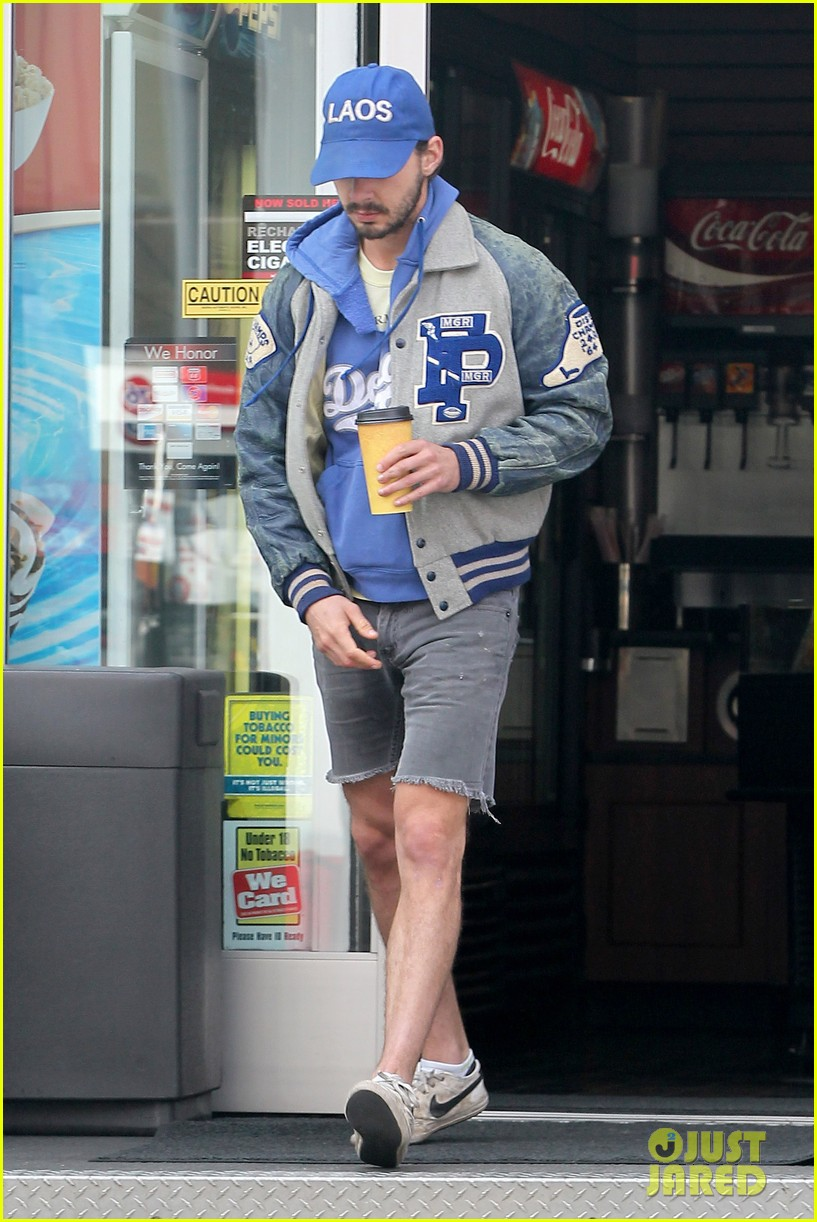 shia labeouf cutoff short shorts in hollywood 032765321