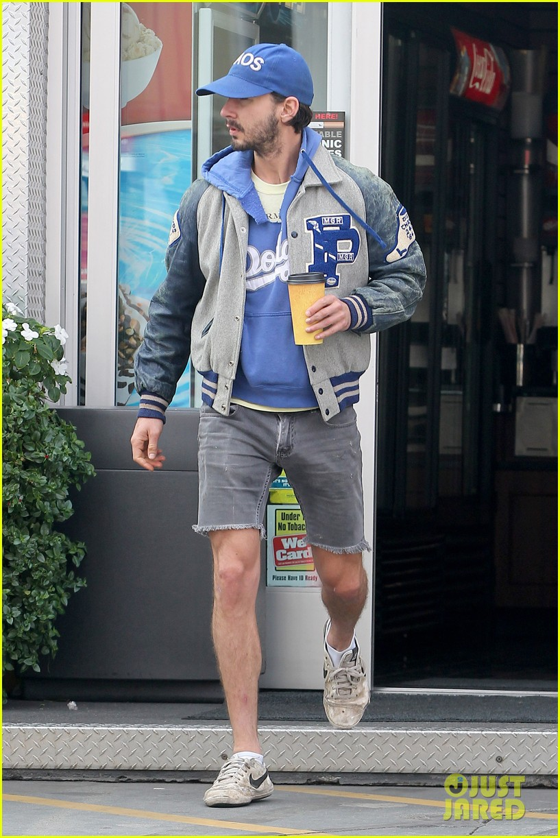 shia labeouf cutoff short shorts in hollywood 12