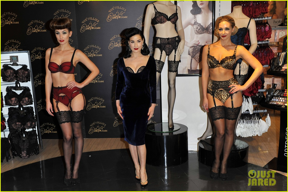 dita von teese von follies lingerie launch 01