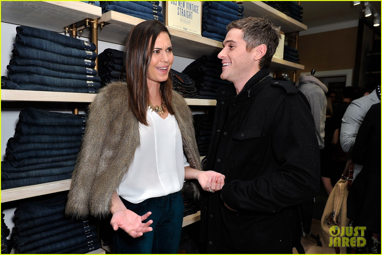 dave annable lucky brand store opening with odette 02