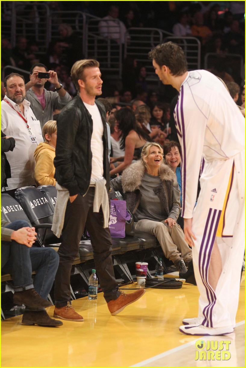 david beckham courtside lakers night 02