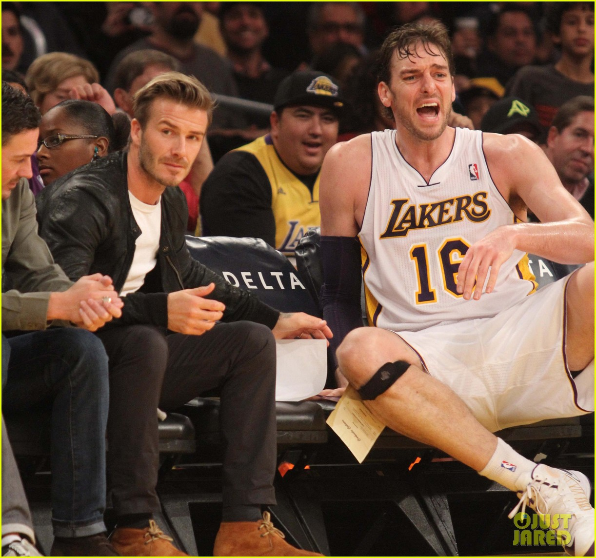david beckham courtside lakers night 032768741