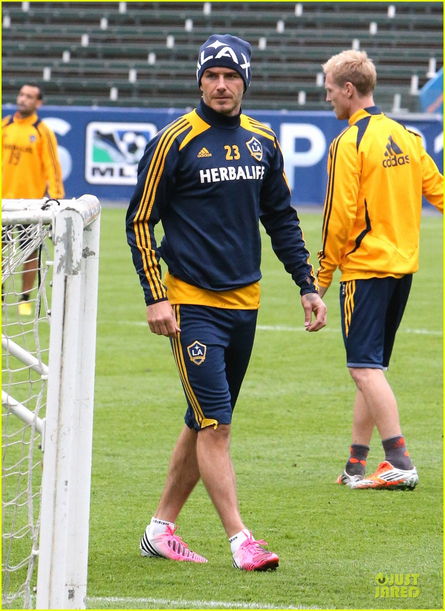 david beckham final galaxy game practice 02