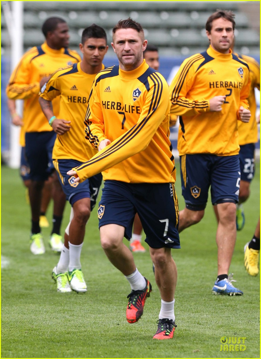 david beckham final galaxy game practice 072767067