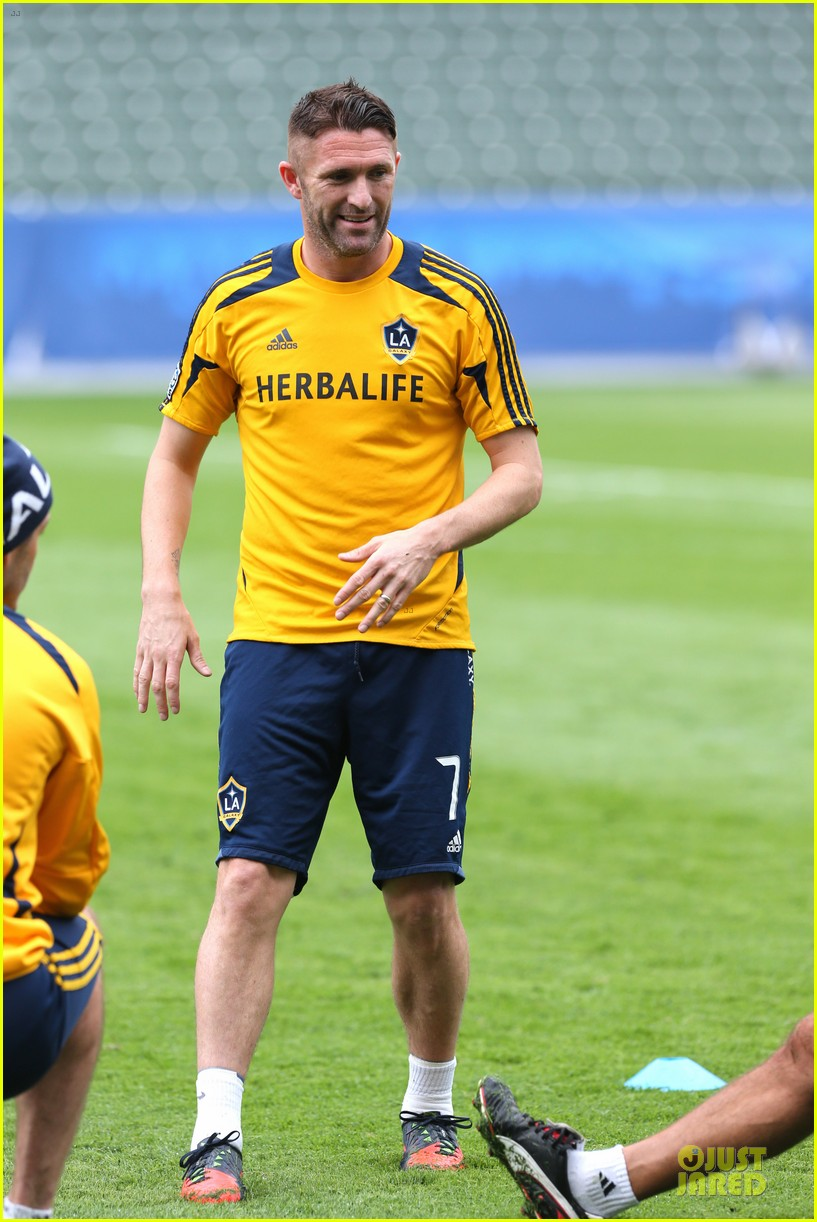 david beckham final galaxy game practice 23
