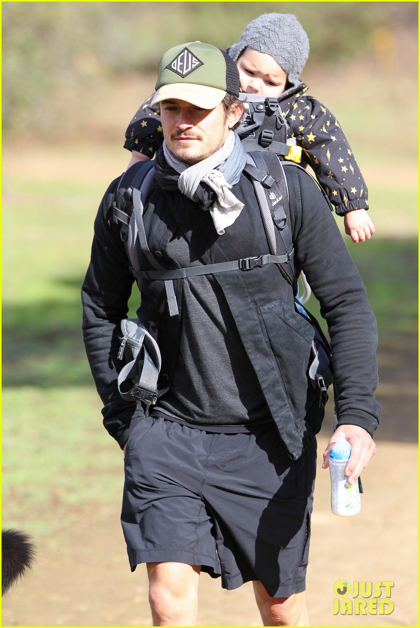 orlando bloom runyon canyon hike with flynn 342782413