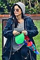 sandra bullock school drop off with rain boots 02