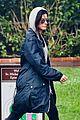 sandra bullock school drop off with rain boots 15
