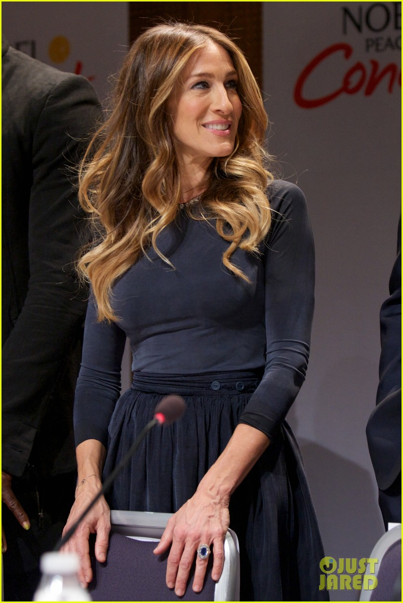 gerard butler sarah jessica parker nobel peace prize concert press conference 08