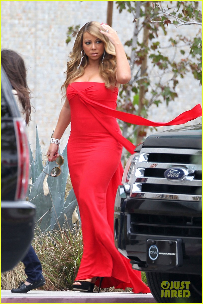mariah carey nicki minaj american idol filming 01