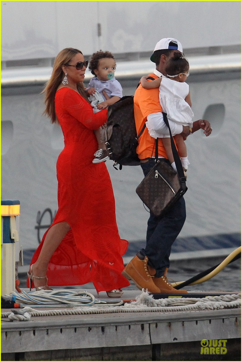 mariah carey & nick cannon australia sailing with the twins 05