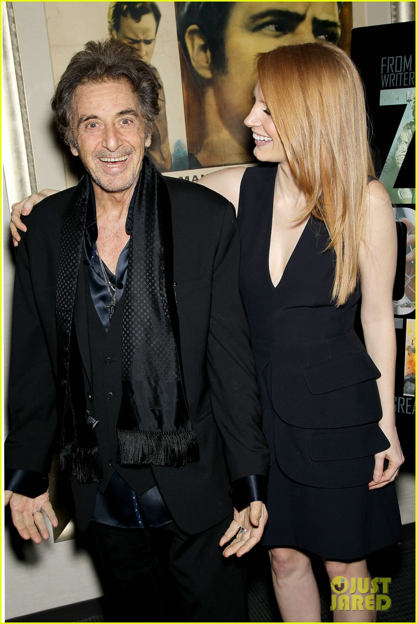 jessica chastain zero dark thirty screening with al pacino 09