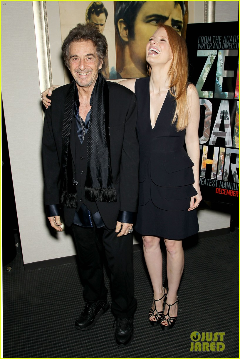 jessica chastain zero dark thirty screening with al pacino 102777831