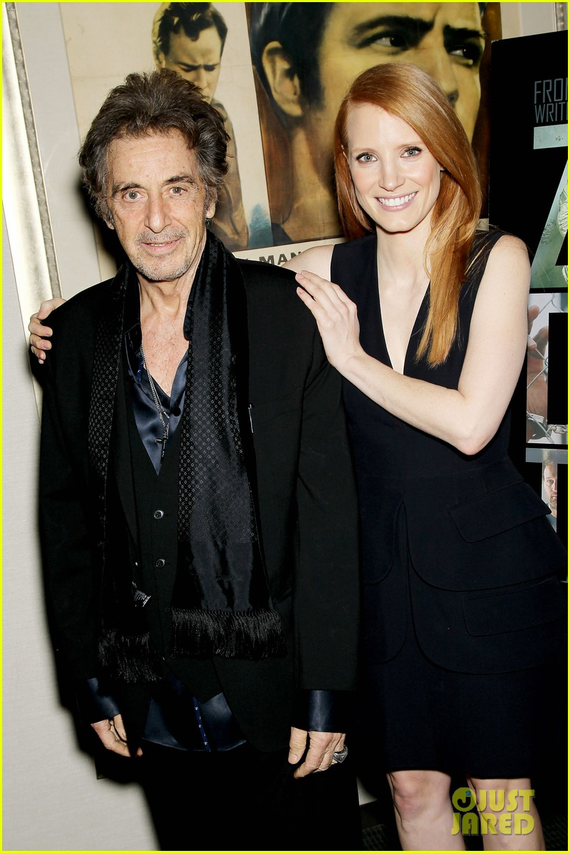jessica chastain zero dark thirty screening with al pacino 12