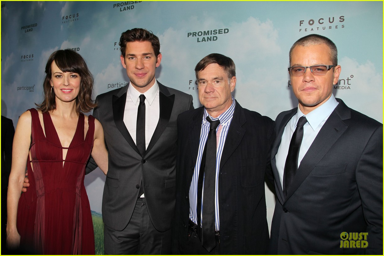 matt damon john krasinski promised land new york premiere 25