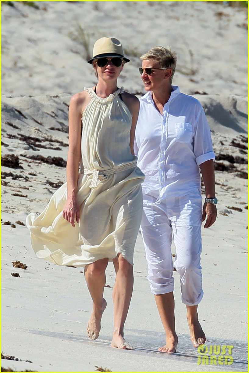 ellen degeneres portia de rossi holding hands in st barts 18