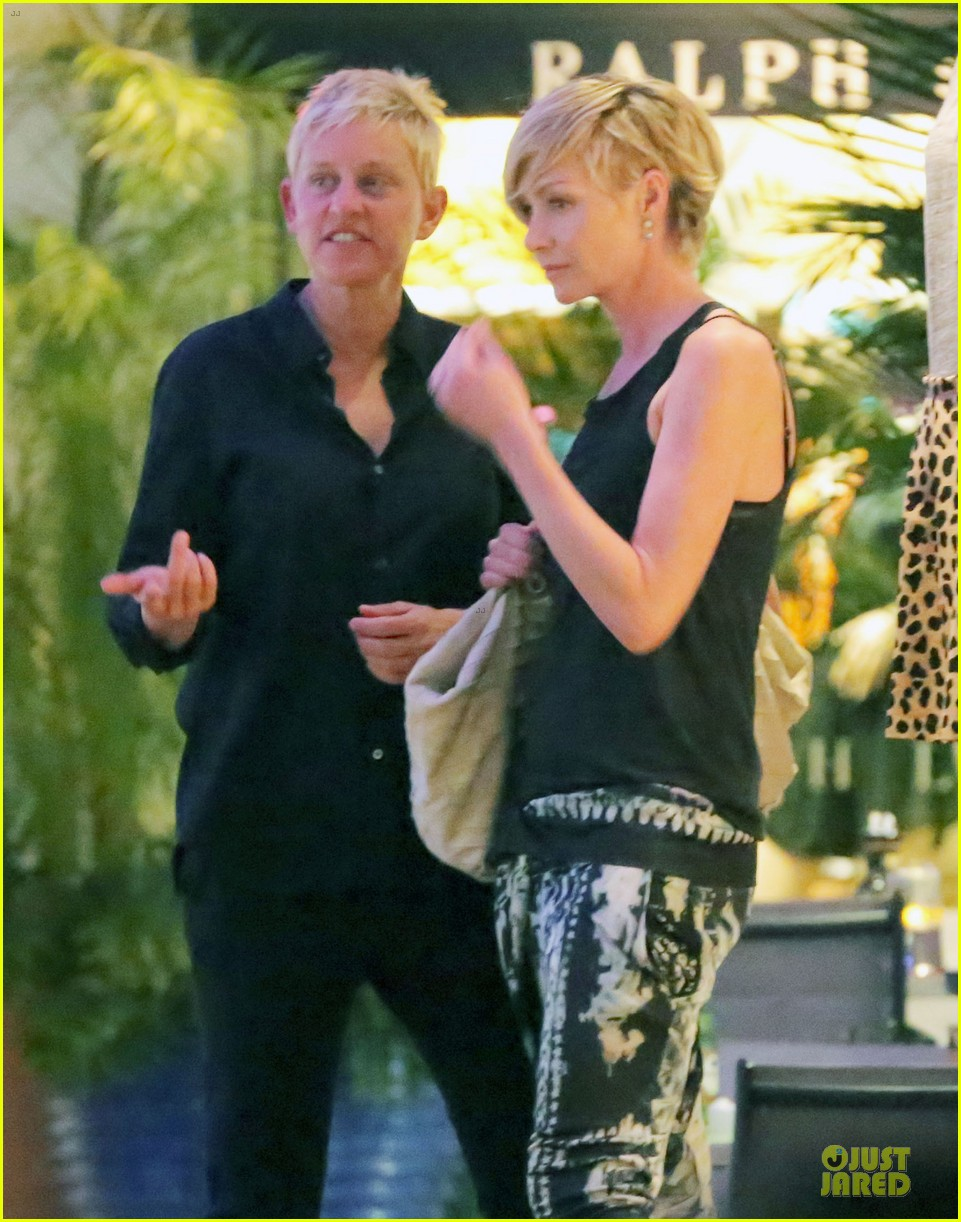 ellen degeneres & portia de rossi holiday jewelry shopping 062780395