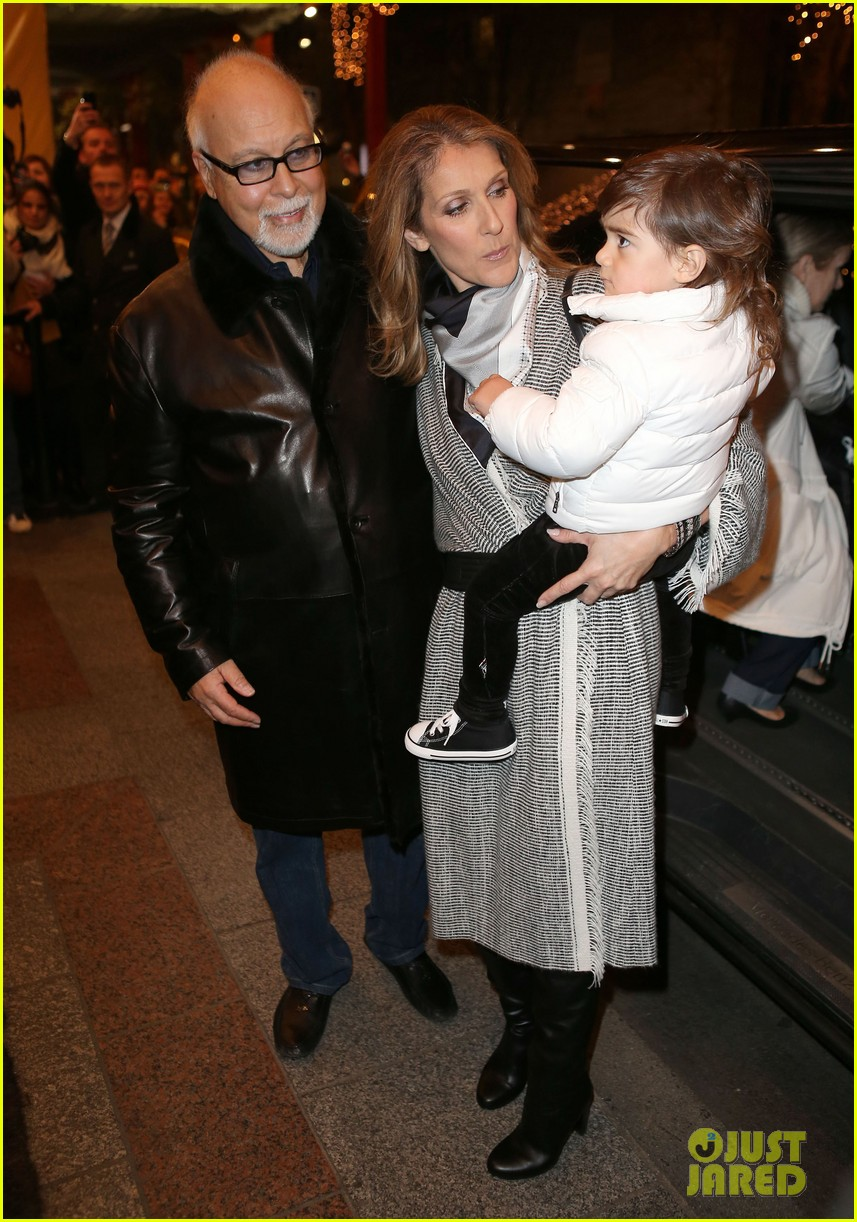 celine dion george v hotel exit with family 06
