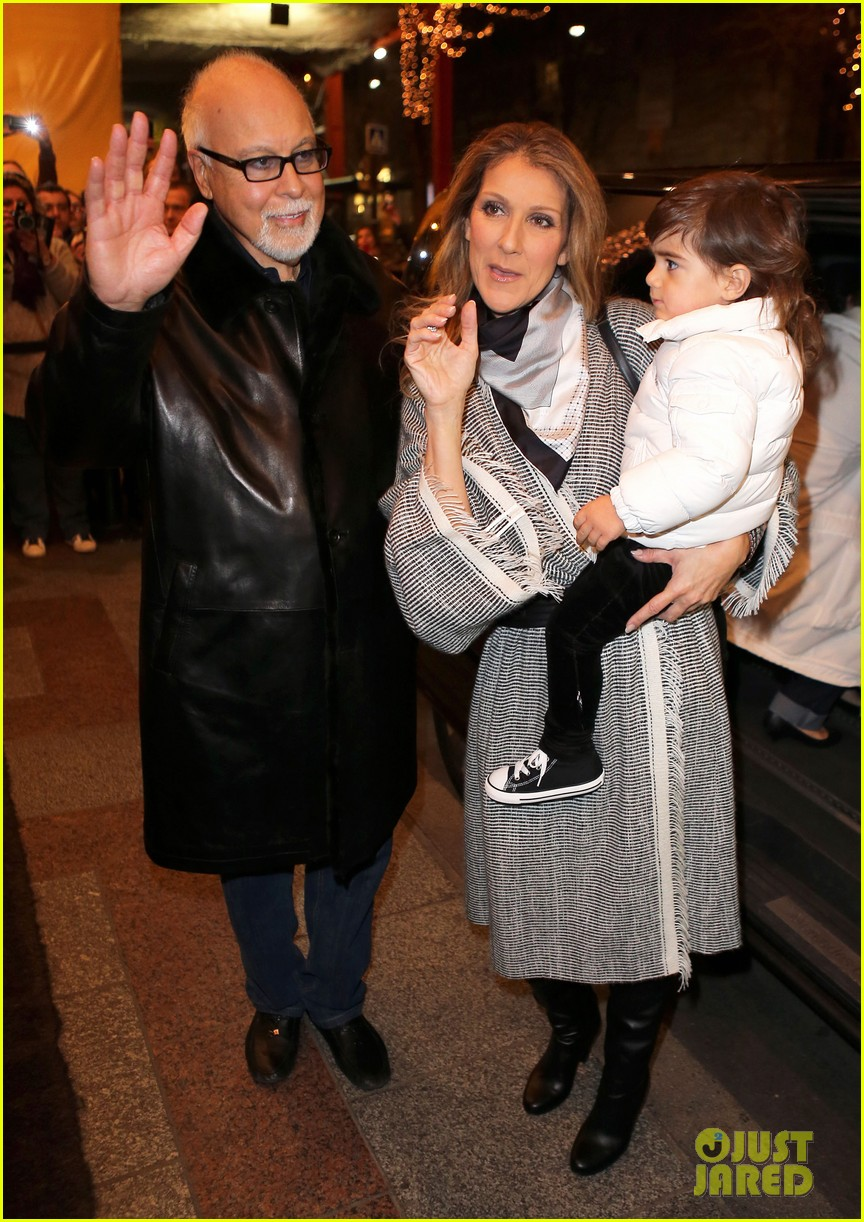 celine dion george v hotel exit with family 08