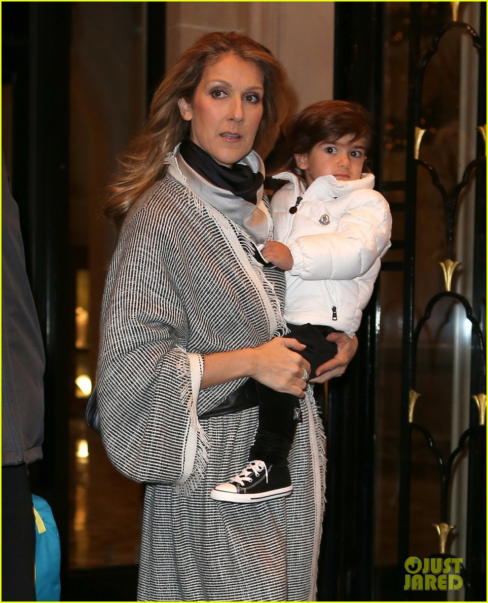 celine dion george v hotel exit with family 10