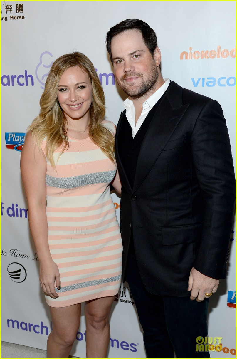 hilary duff mike comrie march of dimes 2012 02