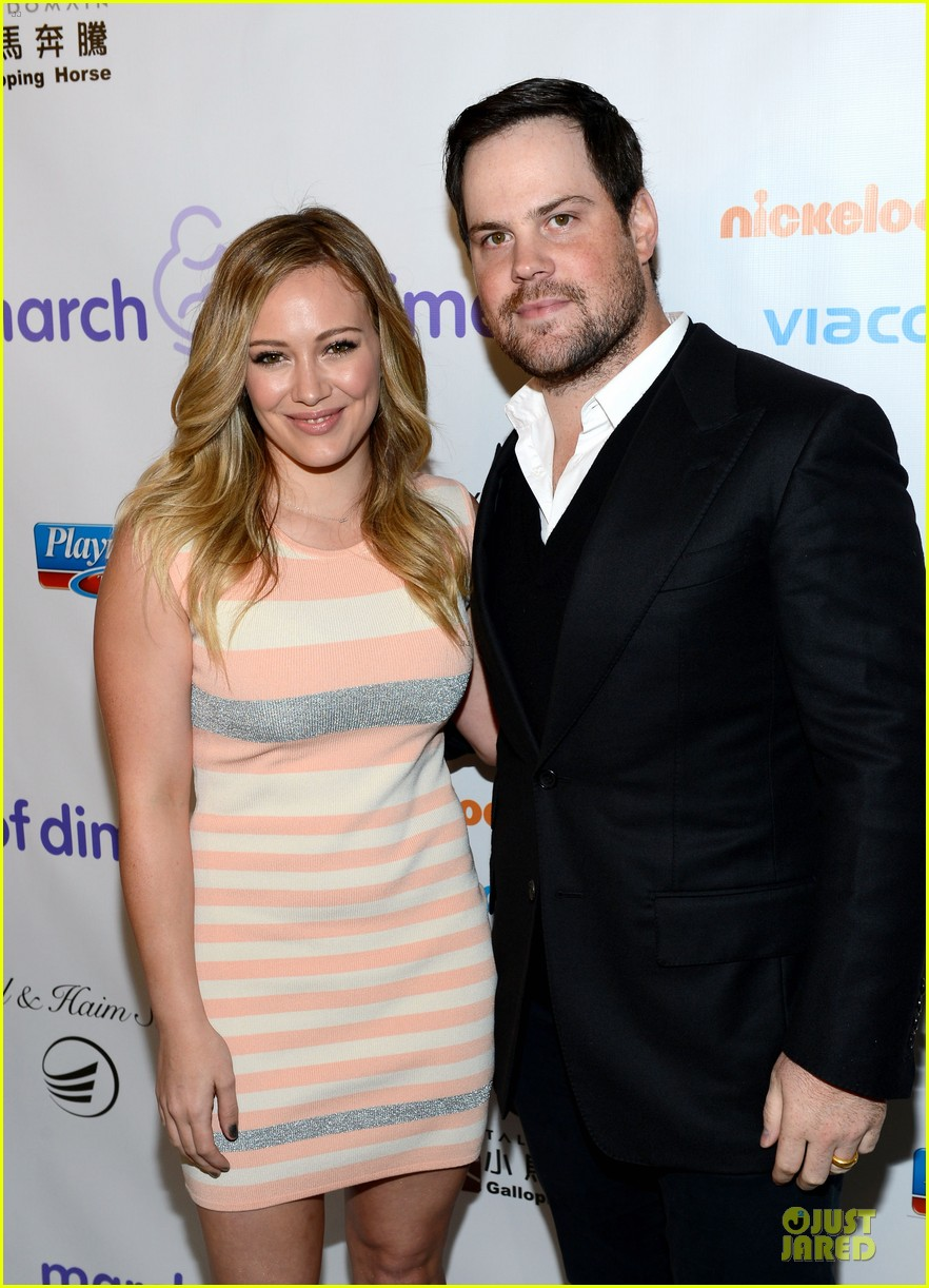 hilary duff mike comrie march of dimes 2012 13