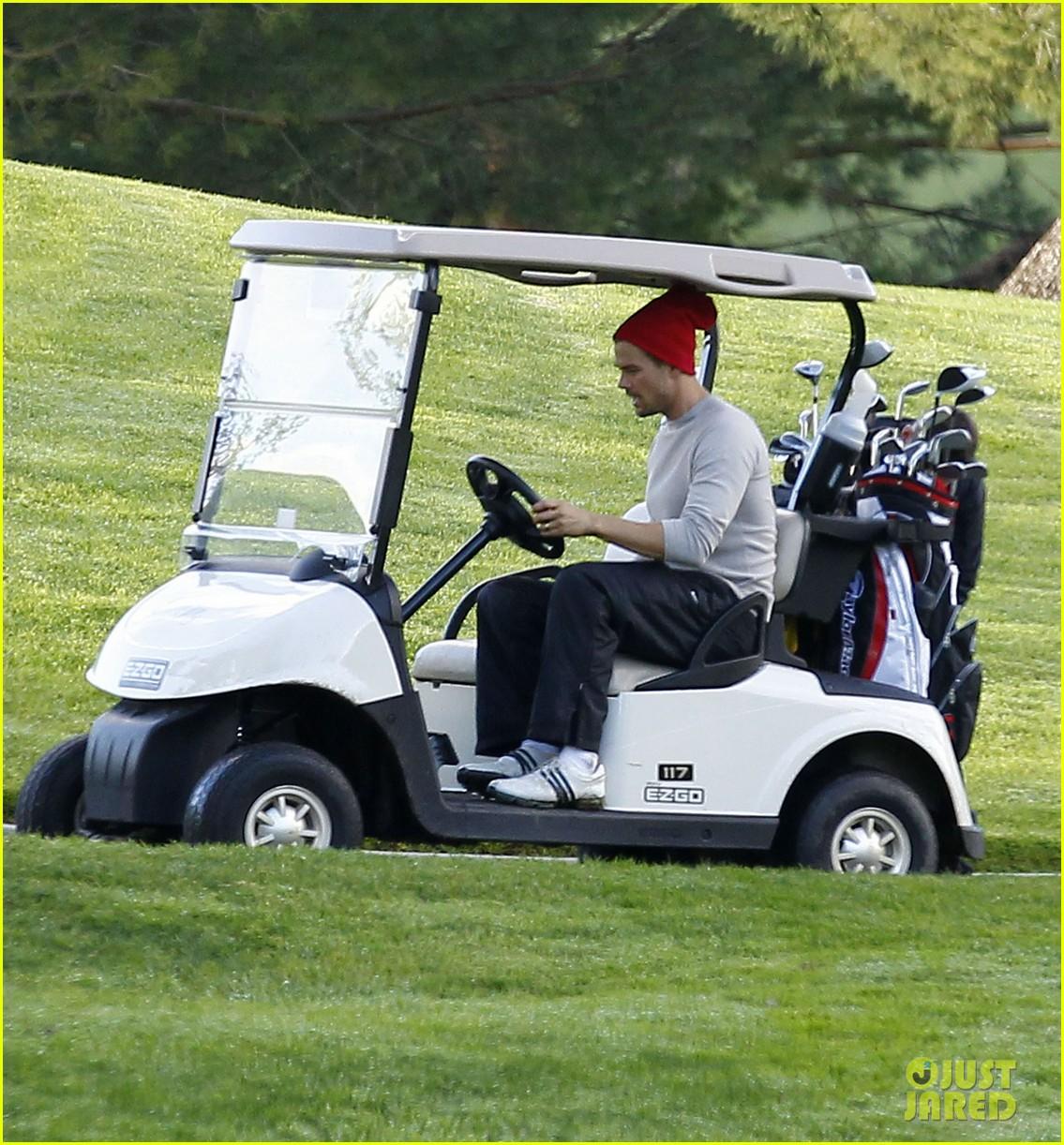 josh duhamel christmas eve golfing 212780901
