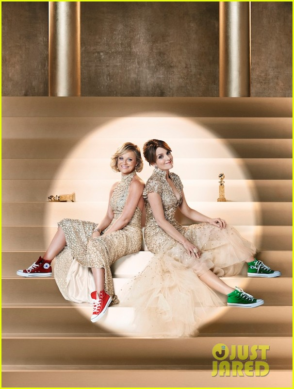 tina fey amy poehler converse shoes for golden globes promo