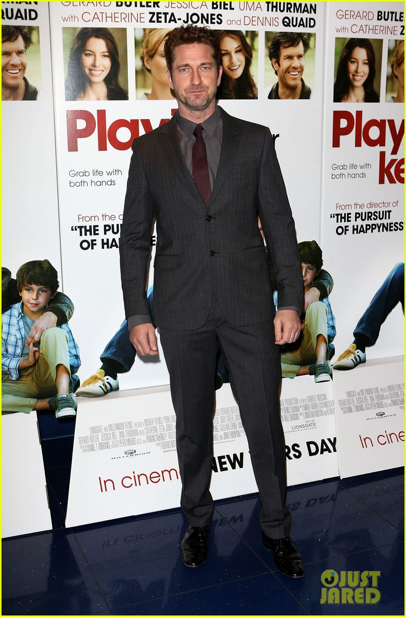 gerard butler playing for keeps london screening 08