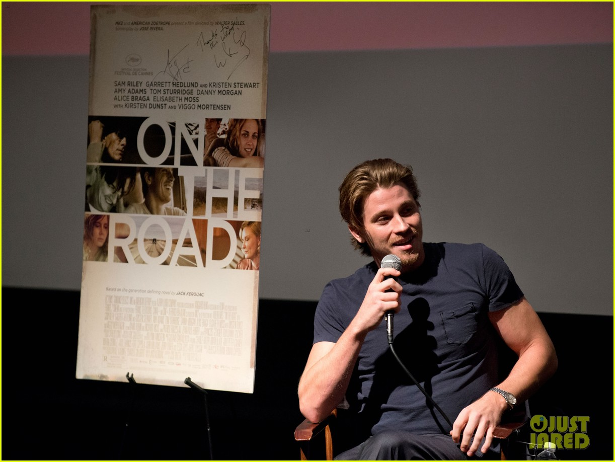 garrett hedlund on the road screening for the wrap 112770513