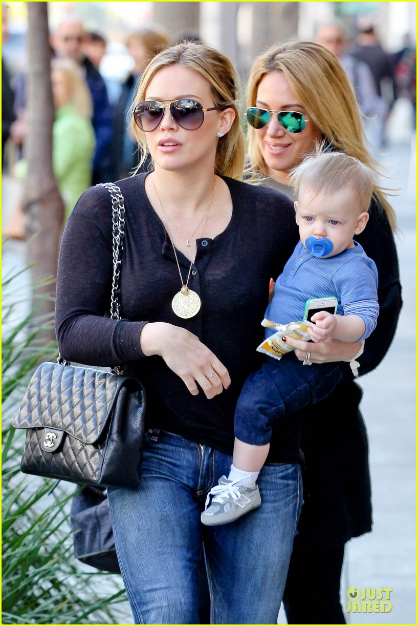 hilary duff & luca lunch with haylie 06