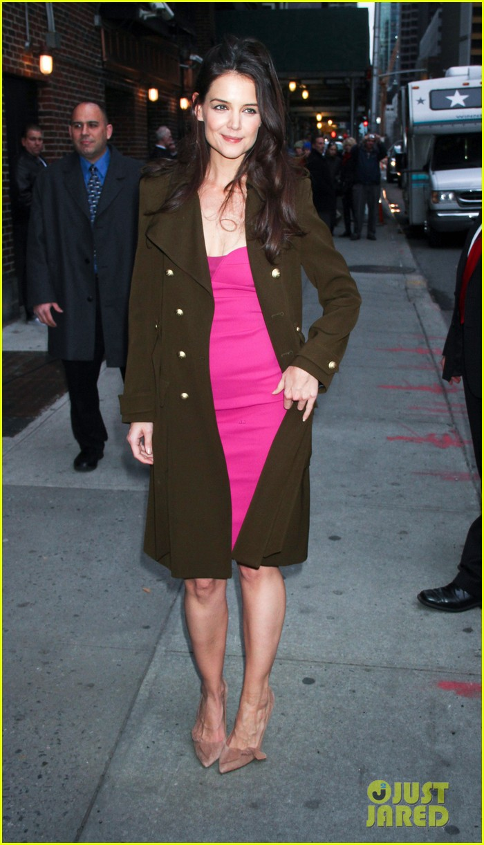 katie holmes david letterman appearance tonight 01