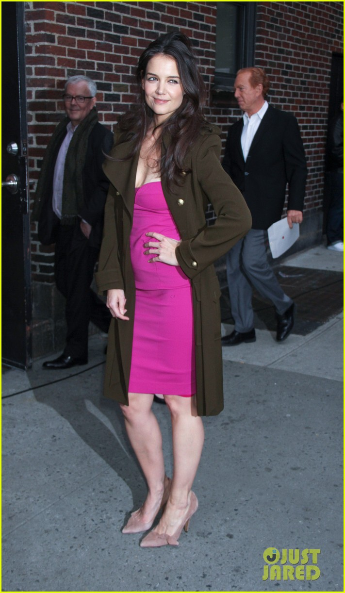 katie holmes david letterman appearance tonight 032778874