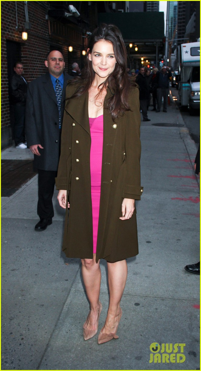 katie holmes david letterman appearance tonight 05