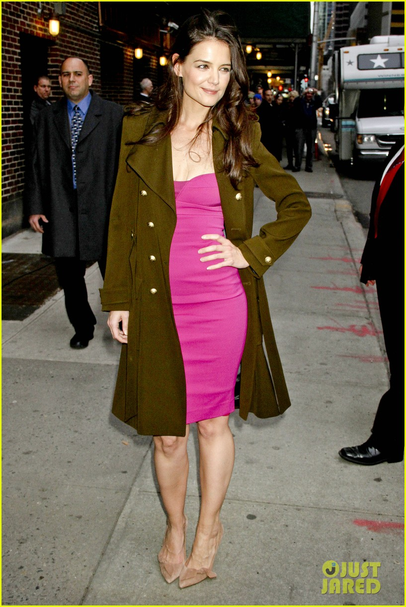 katie holmes david letterman appearance tonight 07