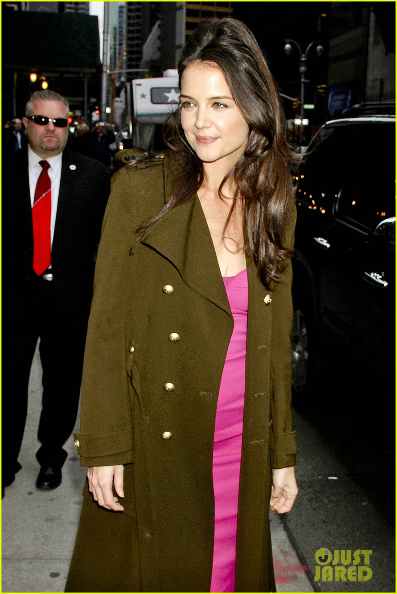 katie holmes david letterman appearance tonight 092778880